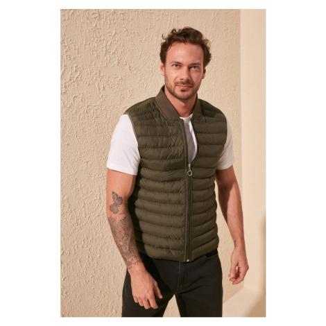 Trendyol Khaki Male Zippered Vest