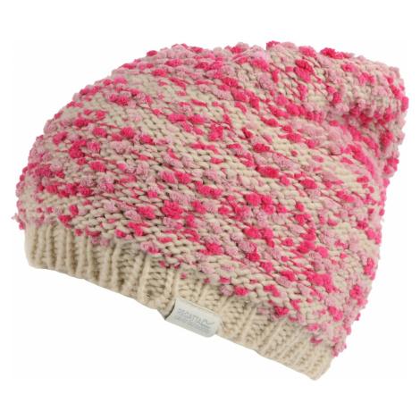 Dětská zimní čepice Regatta BITSIE béžová/růžová