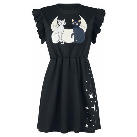 Sailor Moon Luna and Artemis - Moon Cats šaty černá
