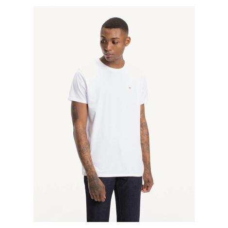 Tommy Jeans pánské bílé tričko Tommy Hilfiger