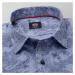 Pánská košile klasická světle modrá s květinovým vzorem 12060