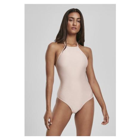 Ladies Rib Neckholder Swimsuit - rose Urban Classics