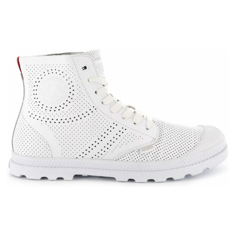 Palladium Pampa Mid LP Perforated bílé 95756-133-M