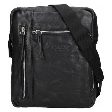 Pánská kožená taška přes rameno Lagen Rudolf - černá