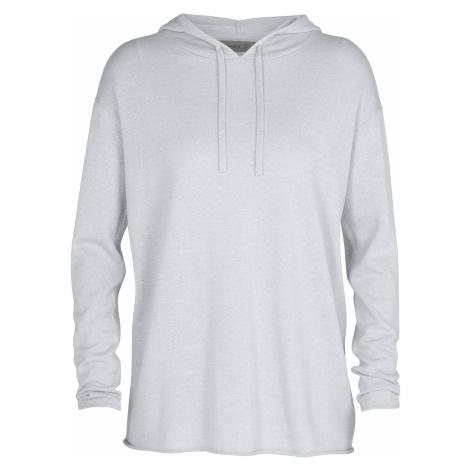 Dámský svetr ICEBREAKER Wmns Flaxen LS Hooded Pullover Sweater, Milkwood HTHR (vzorek) Icebreaker Merino