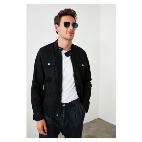 Trendyol Slim Fit Jacket with Black Male Judge Collar Zipper