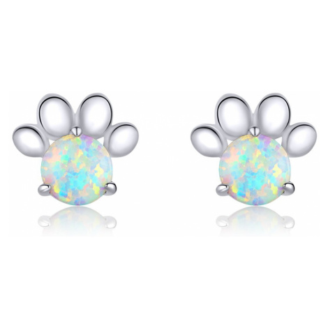 Linda's Jewelry Stříbrné náušnice Pecky Love Pets Opal Ag 925/1000 IN161