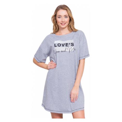 Dámská noční košile Vienetta Secret You and me | šedá