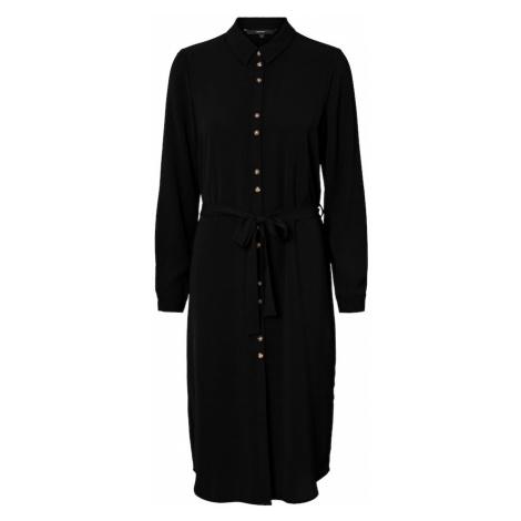 VERO MODA Košilové šaty 'Sasha' černá