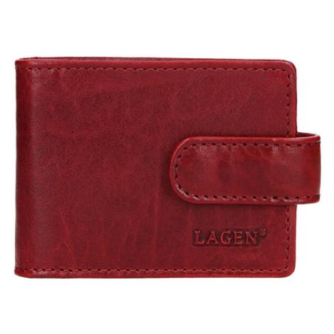 Lagen Dámská kožená dokladovka 1485/t Red