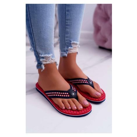 Women's Slides Flip flops Big Star Red DD274A252 Kesi