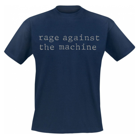 Rage Against The Machine Original Logo Tričko námořnická modrá