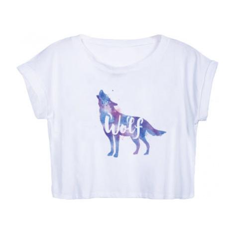 Dámské tričko Organic Crop Top Vlk