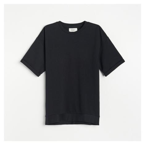 Reserved - Bavlněné tričko OVERSIZED - Černý
