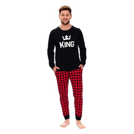 Pánské pyžamo King černé