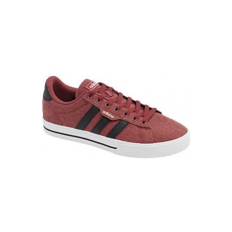Červené plátěné tenisky adidas DAILY 3.0
