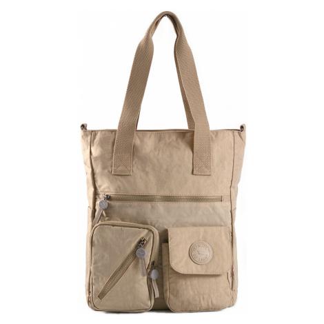 BRIGHT Dámská taška A4 Bright so light Béžová, 31 x 13 x 38 (BR18-TKK1333-05TX)