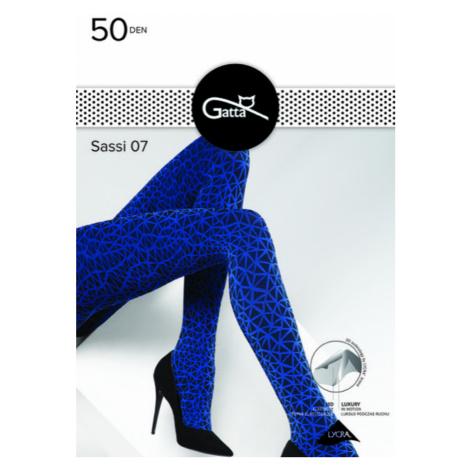 Dámské vzorované punčochové kalhoty SASSI - 07 Gatta