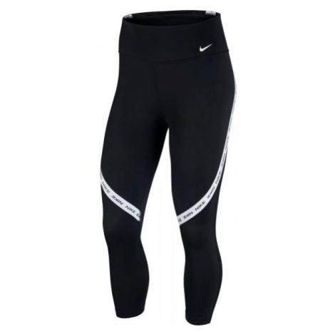 Nike ONE TGHT CROP NVLTY W černá - Dámské legíny