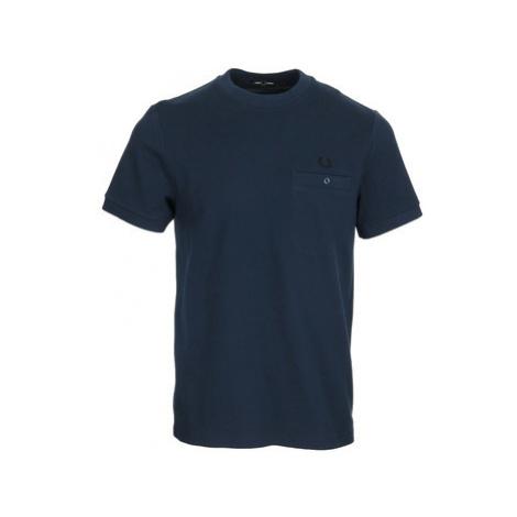 Fred Perry Pocket Detail Pique Shirt Modrá