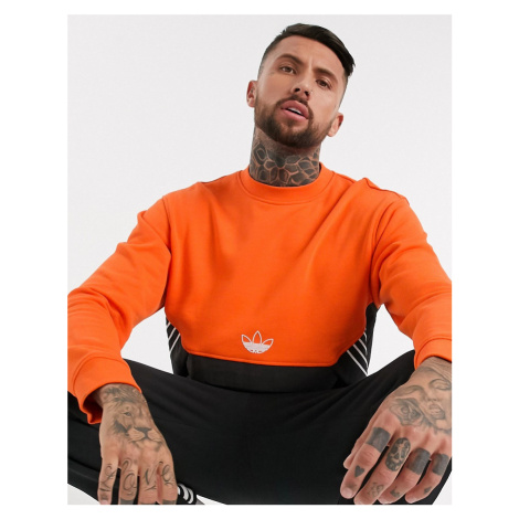 Adidas Originals sweatshirt with central trefoil in orange