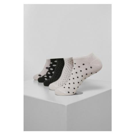 Urban Classics No Show Socks Dots 5-Pack white/black