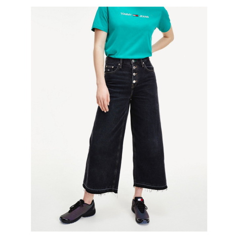 Tommy Jeans mid rise wide leg in wash black Tommy Hilfiger