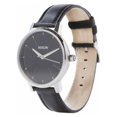 Nixon Analogové hodinky 'Kensigton Leather' černá / stříbrná