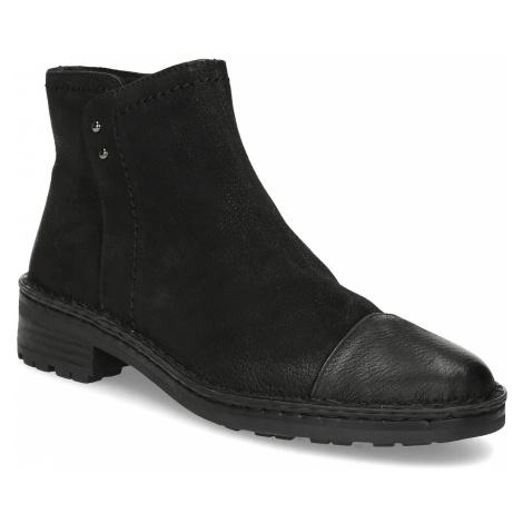 Dámská kožená kotníčková obuv Baťa