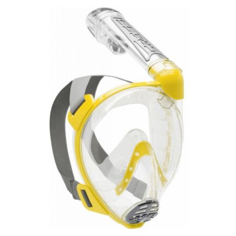 Cressi DUKE žlutá - Celoobličejová šnorchlovací maska