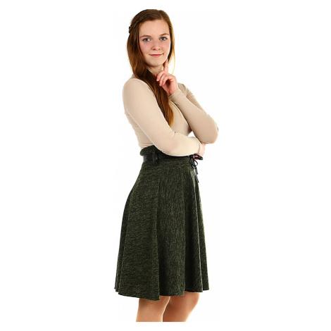 Zimní áčková sukně žíhaný vzor