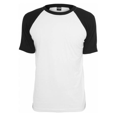 Pánské dvoubarevné tričko Raglan černo-bílé Urban Classics