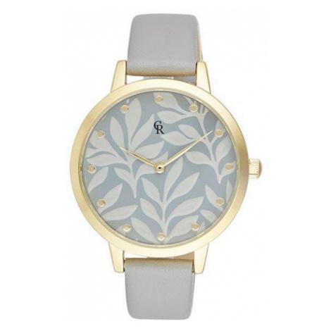 Šedo-zlaté hodinky CRG002 Charlotte Raffaelli