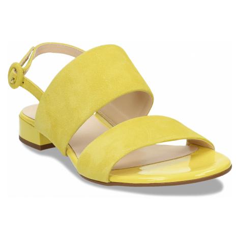 Dámské kožené žluté páskové sandály Högl