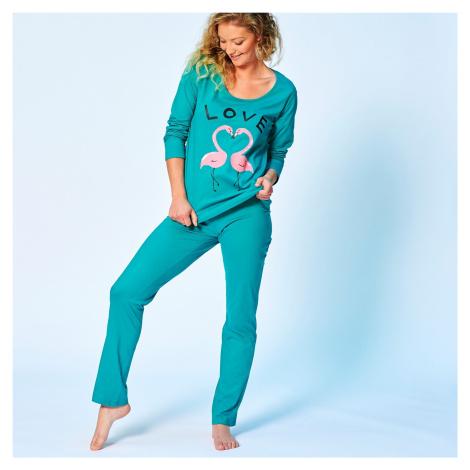 Blancheporte Pyžamo s motivem lásky smaragdová