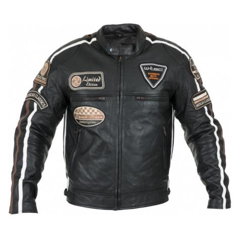 Pánská Kožená Moto Bunda W-Tec Sheawen Black Černá