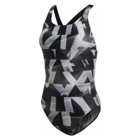 adidas ATHLY X GRAPHIC SWIMSUIT šedá - Dámské plavky