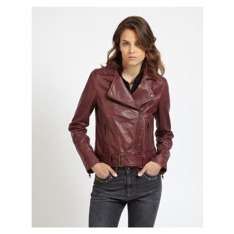 Bunda La Martina Woman Leather Jacket Leather - Červená