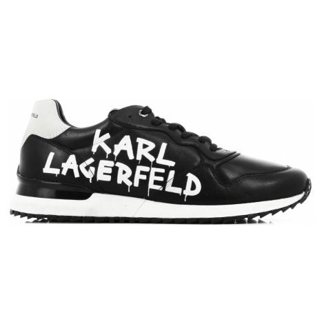 Tenisky Karl Lagerfeld Velocitor Ii Meteor Brush Logo - Černá