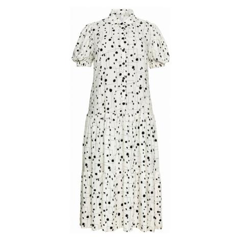 SHEEGO Košilové šaty bílá / černá