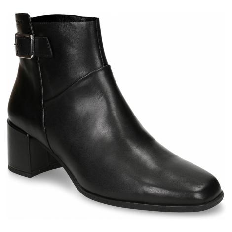 Dámská kotníková obuv v černé kůži s přezkou Vagabond