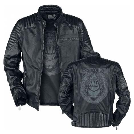 Iron Maiden Book Of Souls Skull kožená bunda černá