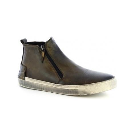 Leonardo Shoes LUCIO/2 VACC. LAVATA MIMETICO Zelená