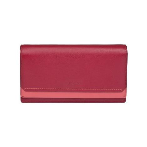 Lagen 10181 červená dámská kožená peněženka Červená