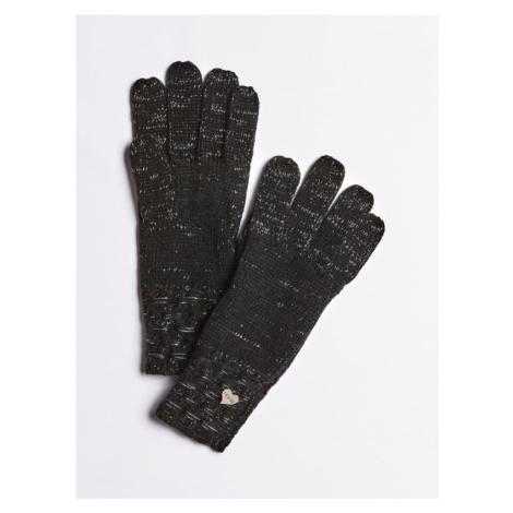 Guess dámské černo stříbrné rukavice