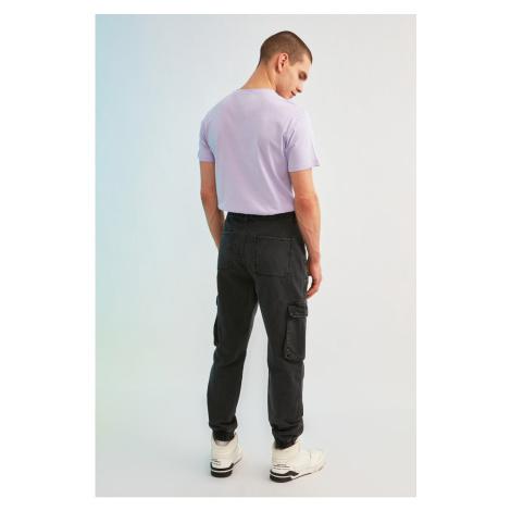 Trendyol Anthracite Men Loose Fit Cargo Jogger Jeans
