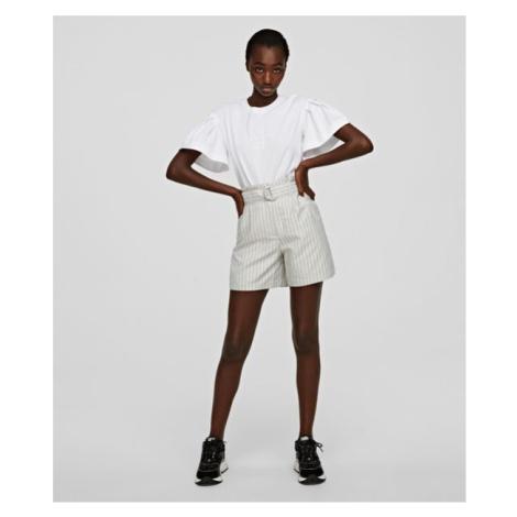 Šortky Karl Lagerfeld Pinstripe Shorts - Bílá