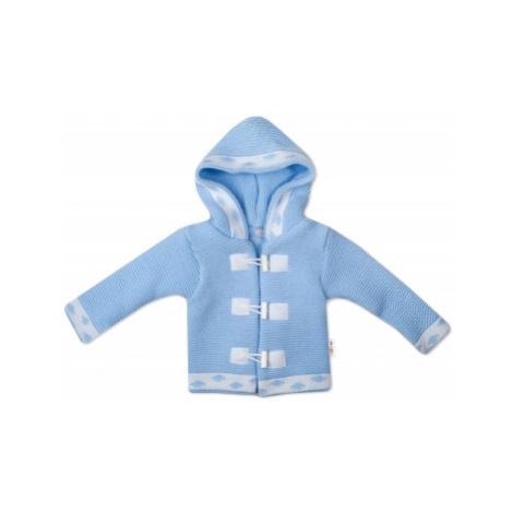 Baby Nellys Dvouvrstvá kojenecká bundička, svetřík - modrý, vel.