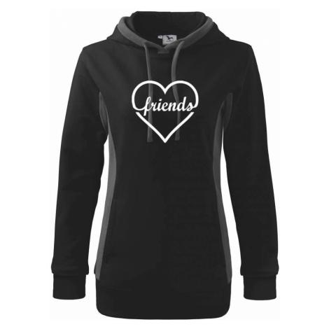 Friends (párové triko) - Mikina dámská Kangaroo s kapucí