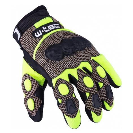 Motokrosové rukavice W-TEC Derex Barva černo-žlutá